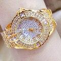 Изысканные бриллиантовые женские часы с римскими цифрами, роскошные брендовые золотые часы для женщин, часы со стальным ремешком, женские н...