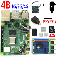 Raspberry Pi 4 Model B PI 4B 1GB/2GB/4GB or 3B+ power case 32G SD