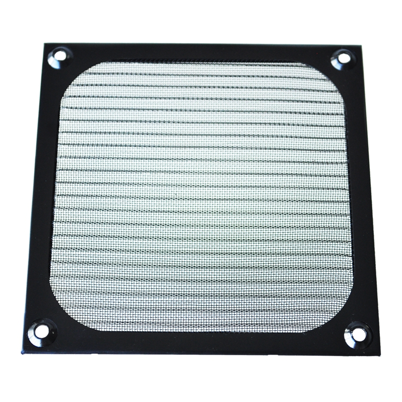 12cm X 12cm PC Cooler Fan Aluminum Dustproof Meshy Filter Black