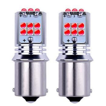 2 sztuk 1156 BA15s 7506 P21W R10W R5W Super jasne 1800Lm LED samochodów Turn Signal żarówka hamulca Auto tylne światła przeciwmgielne światła dzienne tanie i dobre opinie RAISE STAR Świateł cofania BA15S (1156) 12 V 24 V 3030 Uniwersalny P 21W