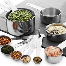 12Pcs/Set Measuring Mug Eco-friendly High Precise Stainless Steel Measuring Tea Spoon Supplies for Home