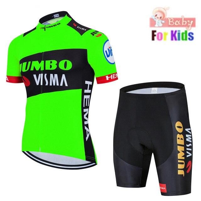 2020 strava equipe respirável secagem rápida crianças conjunto de camisa ciclismo da bicicleta das crianças meninos meninas roupas verão bicicleta wear 4
