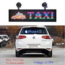 Комнатный программируемый светодиодный Автомобильный дисплей RGB Полноцветный PH4mm СВЕТОДИОДНЫЙ знак поддержка прокрутки текста светодиодн...