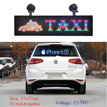 Car-Display Programmable Scrolling Led Sign Text Led Advertising Indoor Full-Color RGB