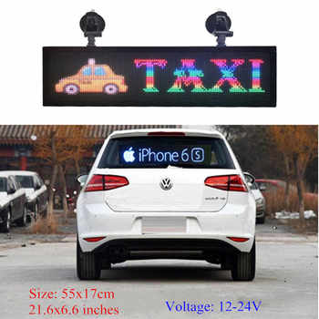 Indoor programmable image LED Car display RGB full color PH4mm LED sign support scrolling text LED advertising screen display - DISCOUNT ITEM  1 OFF Electronic Components & Supplies