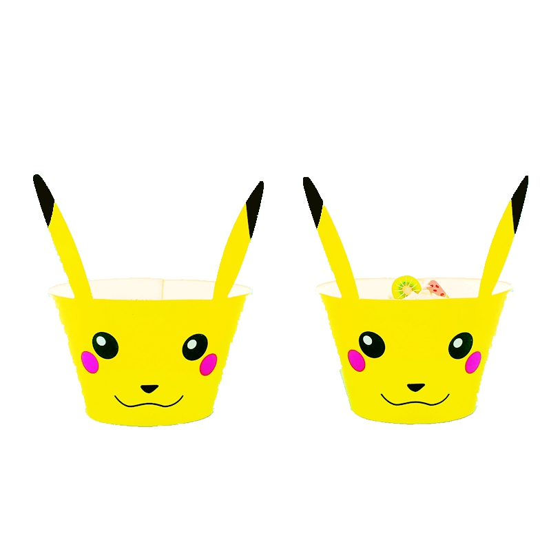 12 Pokemon GO Cupcake Wrappers /& 12 Toppers kids Birthday party decoration