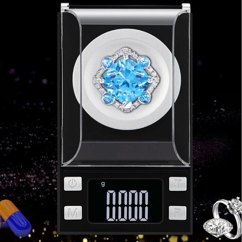 LCD Digital Display Electronic Scale Mini Pocket Digital Scale Jewelry Scale 20g/50g100g 0.001g High Precision Weighing Scale
