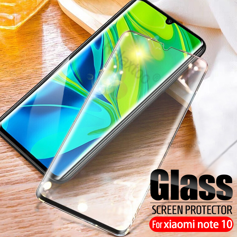 Full Cover Tempered Glass For Xiaomi Mi Note 10 9D Curved Screen Protector Film On Xiomi Cc9 Pro Cc9pro Note10 Protective Glas