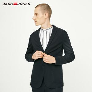 Image 4 - Jackjones básico masculino algodão & linho fino ajuste blazer longo mangas compridas terno jaqueta nova marca masculina 218308505