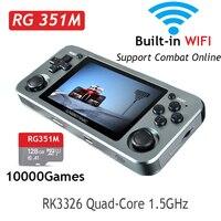ANBERNIC-consola de videojuegos Retro RG351M RG351P, consola portátil con carcasa de aleación de aluminio 2500, Mando de juegos RG351