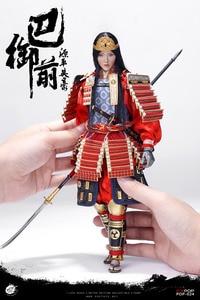 Image 4 - POPTOYS EX024 A, японская героиня генпеи, Томоэ гозен, с металлической броней, 1/6, фигурка, стандартная версия