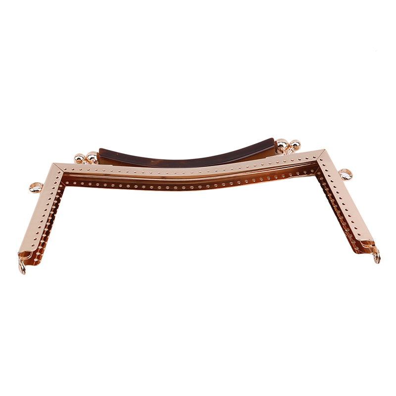 20.5cm Handle Concave Metal Purse Frame Kiss Clasp DIY Kiss Lock Bag Accessories Bronze Gold