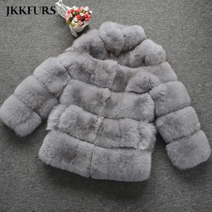 Image 4 - Womens Real Fox Fur Coat Fashion Style 2019 New Arrivals High Quality Winter Thick Warm Fur Jacket Outerwear S7362