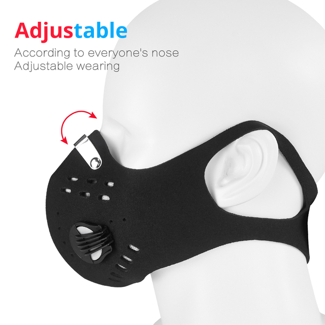 Fashion Face Mouth Mask Anti Dust Mask Filter Windproof Mouth-muffle Bacteria Proof Flu Face KN95 Masks Care Reusable Washable 1