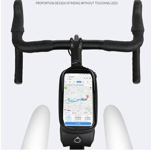 Image 5 - Rad Bis 7,0 Zoll Wasserdichte Fahrrad Tasche Rahmen Vorne Top Rohr Hard Shell Tasche Telefon Fall Touchscreen Tasche MTB Bike zubehör