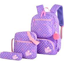 New Children School Bags For Girls Kids School Backpack 3Pcs/Set Fashion Printing Schoolbag Backpacks mochila infantil