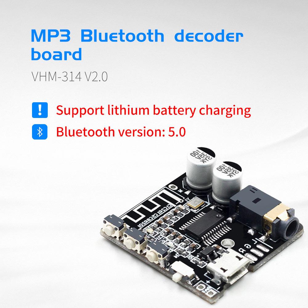 VHM-314 V.20 MP3 Bluetooth Decoder Board Audio Receiving And Decoding Board 5.0 Lossless Car Audio Decoder Amplifier Module