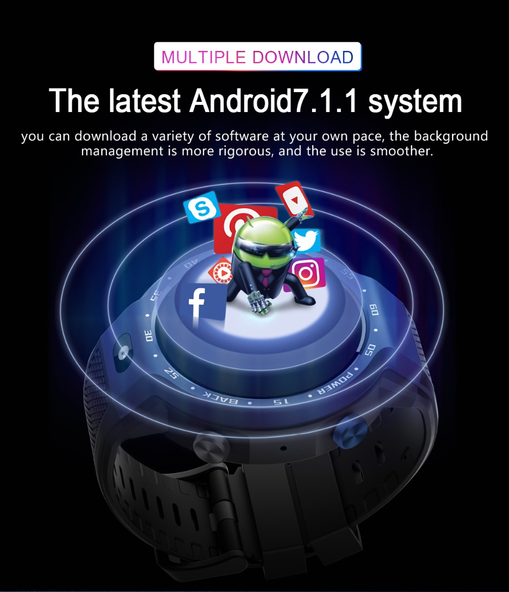 TORNTISC Z30 Dual Systems 4G Smart Watch phone Android 7.1 5MP Front Camera 600Mah Battery Support GPS WIFI Heart Rate Smartwatch PK LEM9 Presale (6)