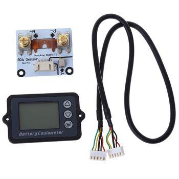 Coulómetro de batería DC 8-80V 50A TK15, probador de batería para LiFePo Coulomb Counter 63HF