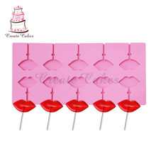 Sexy Lip Mold Heart Lollipop Mold Cake Decorating Gereedschap 3D Snack Tool Voor Hetzelfde Als Snack Party Kitchen Tools Bakvormen(China)