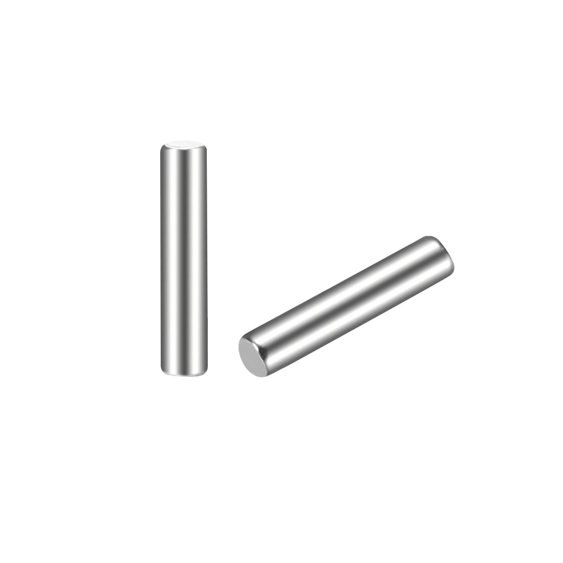 100 Pcs 2.7mm x 15.8mm Parallel Dowel Pins Fasten Elements Silver Tone