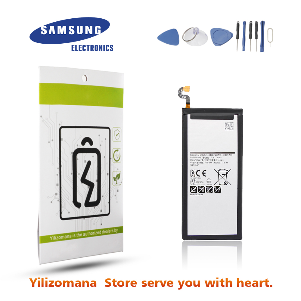 Original Battery For SAMSUNG G935 EB BG935ABA 3600mAh For Samsung Galaxy S7 Edge G935A G935FD SM G935F Replacement Phone Battery in Mobile Phone Batteries from Cellphones Telecommunications