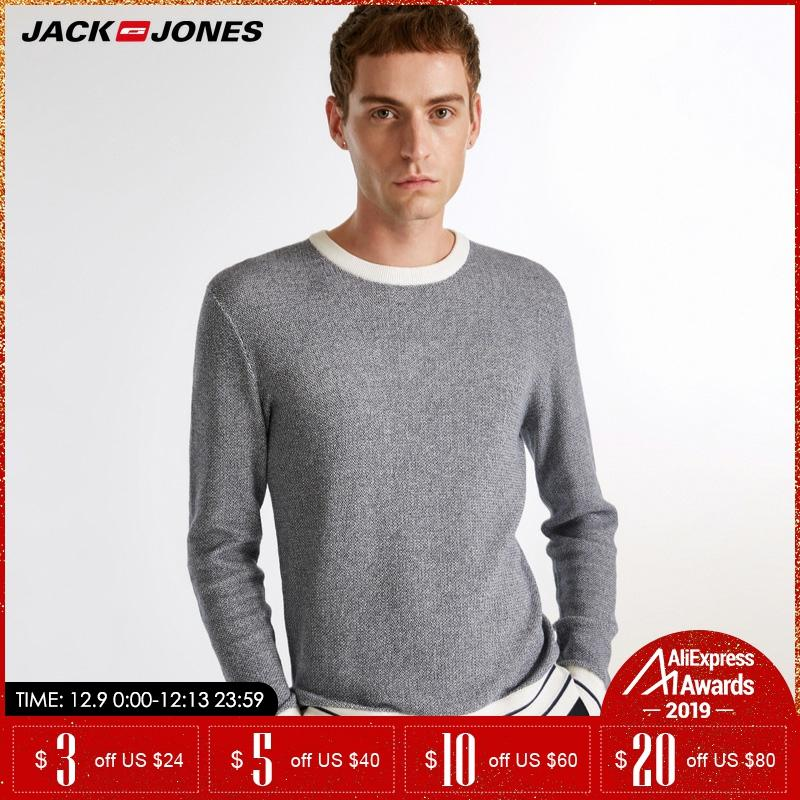 Jack Jones Brand New 100%cotton Fashion Casual O-neck Slim Pullover Knitted Sweater Men |218324509