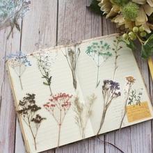18pcs Dried Flower Specimens Style PE Sticker Scrapbooking DIY Gift Packing Label Decoration Tag