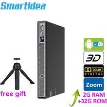 Smartldea T5 hd 4 18kリアル 3D dlpプロジェクターバッテリーズーム、自動台形、アンドロイド 6.0 のwifi ledスマートproyector bluetoothエアプレイ