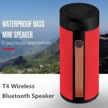 Finlemho T4 Không Dây Loa Bluetooth Stereo USB Ngoài Trời Di Động Loa AUX TF Đầu Vào Với Điện Thoại Di Động Đa Purposed