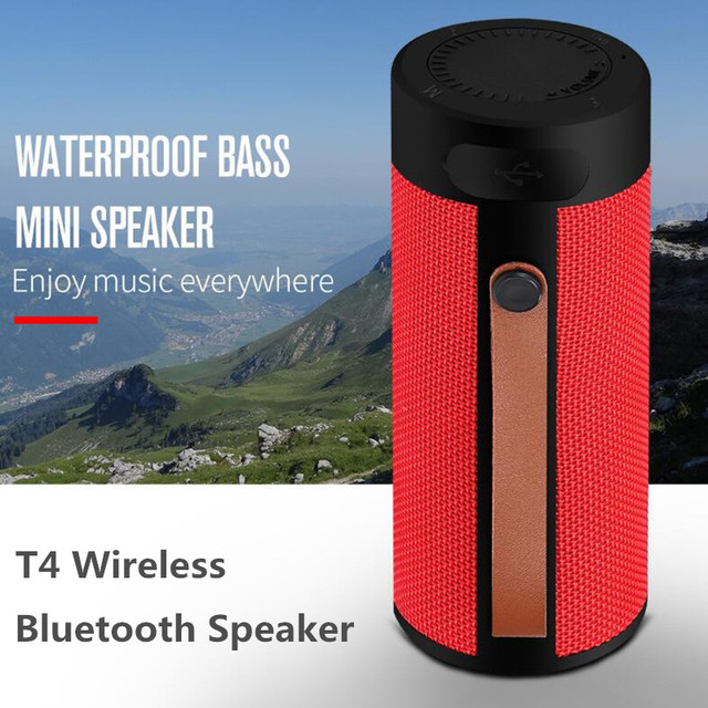 Finlemho T4 Wireless Speaker Bluetooth Stereo USB Outdoor Portable Loudspeaker AUX TF Input With Mobile Phone Multi Purposed