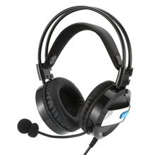New Wired Gaming Headset Deep Bass Game Earphone Computer Headphones with Microphone LED Light Headphones for PC Laptop Computer(China)