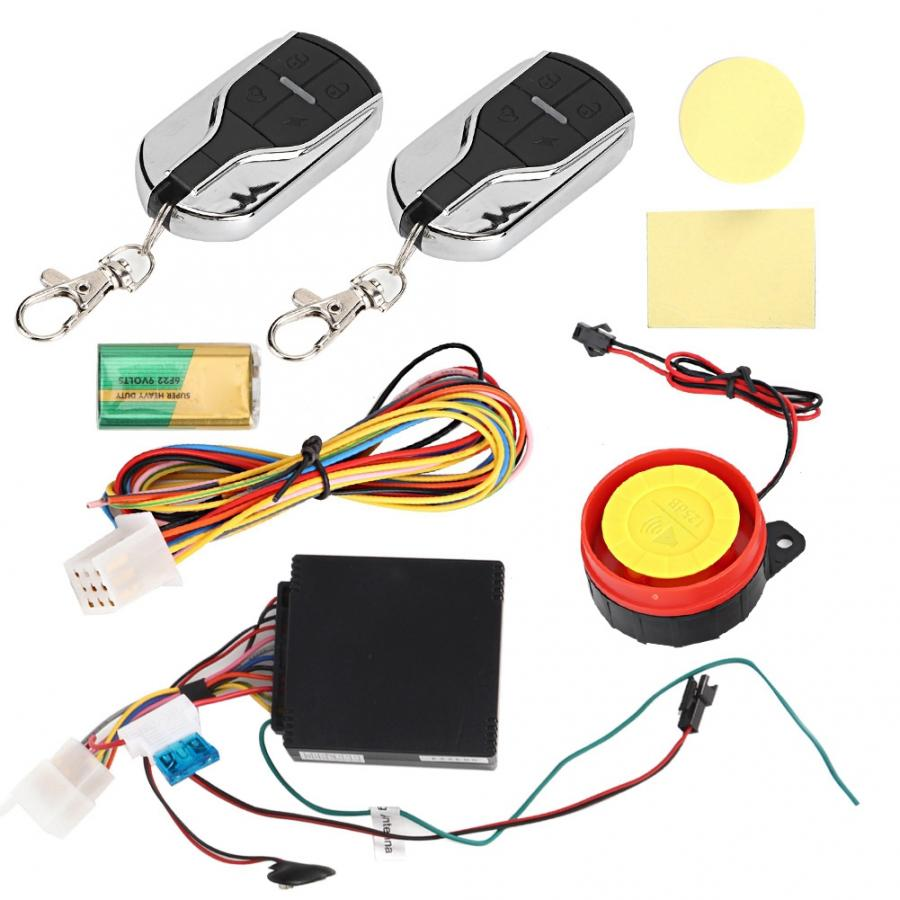 12V One-way Motorcycle Alarm Anti-theft Security Voice Prompt Vibration Alarming Battery Motorcycle Security Alarm New