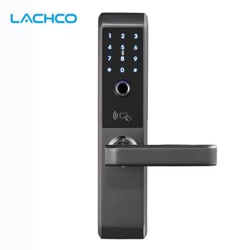 LACHCO 2019 Biometric Electronic Door Lock Smart Fingerprint, Code,Card, Key Touch Screen Digital Password Lock for home A18008F