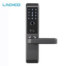 LACHCO 2020 Biometric Electronic Door Lock Smart Fingerprint, Code,Card, Key Touch Screen Digital Password Lock for home A18008F