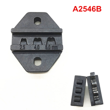 Crimping dies A2546B for crimping solar MC4 connectors 2.5-6mm2 PV MC4 hand crimp tool dies set jaws hand crimping tool kit for crimping terminals and connectors with cable cutter and replaceable dies ls k03c crimping die set