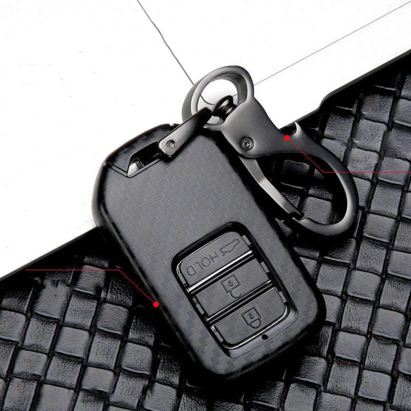 Honda vezel city civic jazz BR-V hrv odyssey 2 3 버튼 키 보호 케이스 자동차 스타일링 액세서리 용 abs 자동차 키 커버 스크럽