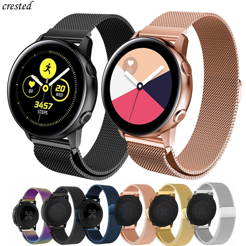 Milanese Strap For Samsung Galaxy Watch Active 2 40/46mm/42mm Gear S3 Frontier Band 22mm Stainless Steel Bracelet Active2 Strap