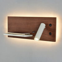 Zerouno telefone quarto prateleira carregador sem fio luzes de parede cabeceira do hotel led iluminação leitura lâmpada luminária usb retroiluminado|Luminárias de parede| |  -