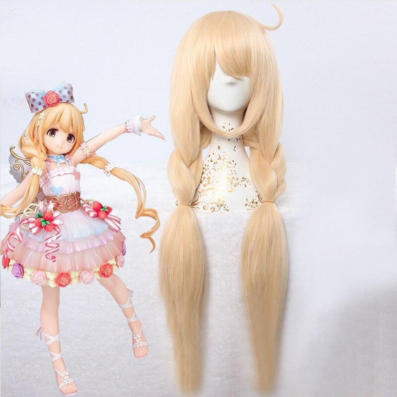 THE IDOLM@STER CINDERELLA GIRLS STARLIGHT STAGE Futaba Anzu Cosplay Wig Blonde Braids Costumes