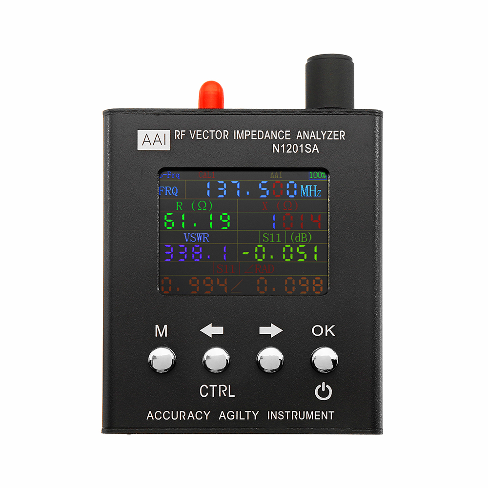 English Verison N1201SA 140MHz-2.7GHz UV RF Vector Impedance ANT SWR Antenna Analyzer Meter Tester