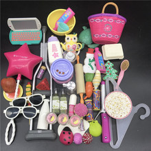 Mix Doll Furniture Play Toy Biscuits cakes shells Bag Hanger Accessories For 40-45 cm 18 Inch dolls New Born Toys Play House стоимость