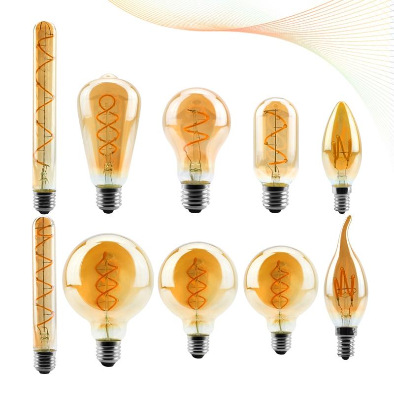 Светодиодсветодиодный лампа накаливания в стиле ретро, 4 Вт, 2200 к