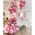 78 шт ретро розовый шар гирлянда арочный Комплект Макарон Розовый Латекс Globos Baby Shower ко Дню Святого Валентина, на свадьбу для детей на день рож...