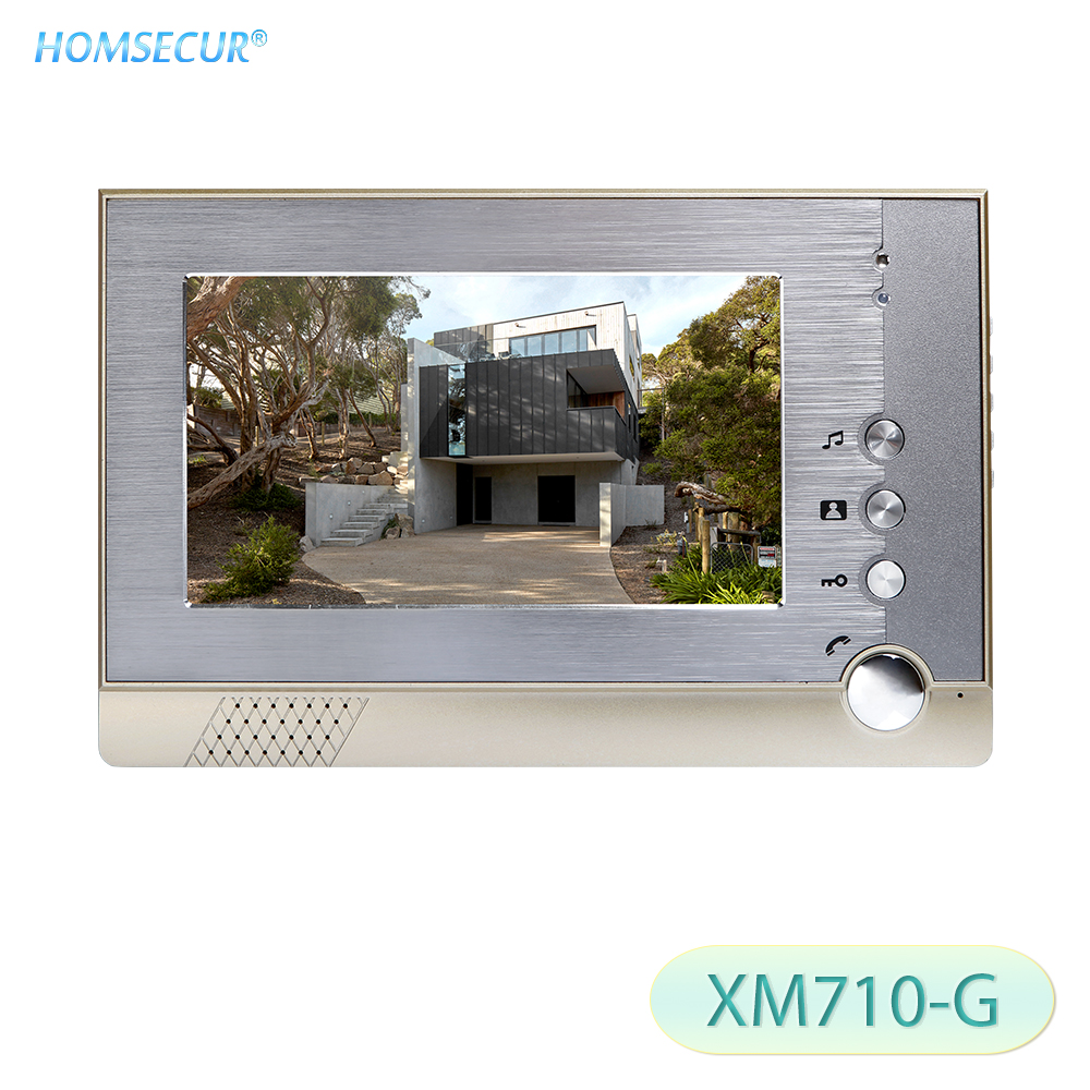 HOMSECUR 7inch Color Indoor Monitor XM710 G For Video Door Phone Intercom System-in Indoor Monitor from Security & Protection