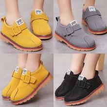 Children Fur Plus cotton warm cotton boots Kid Casual Hook Loop Buckle Flat Snow Boots Ankle Boot Martin Shoes Chelsea Boots D30
