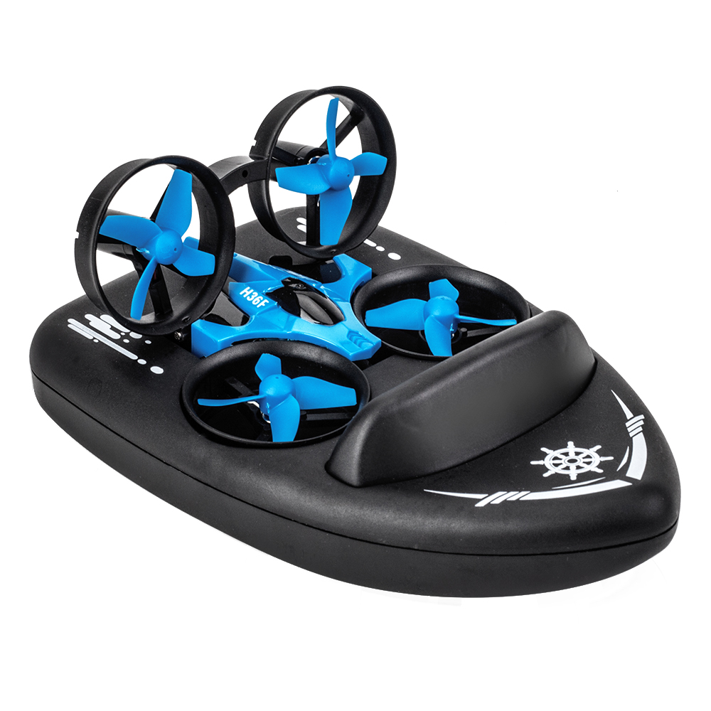 3 in <font><b>1</b></font> Mini RC Drone 2.4G RC Quadcopter Boat Sea-Land-Air 3-mode Altitude Hold Headless Mode 3D Flips Plane Toys For Kids Gift image