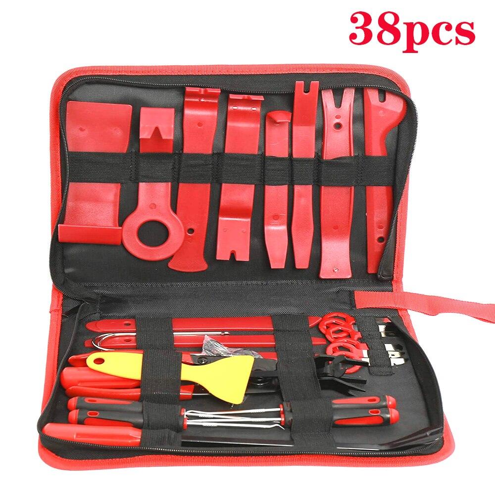 Набор инструментов для удаления приборной панели автомобиля, набор ручных инструментов 7-38 шт., инструмент для разборки автомобиля, зажим дл...