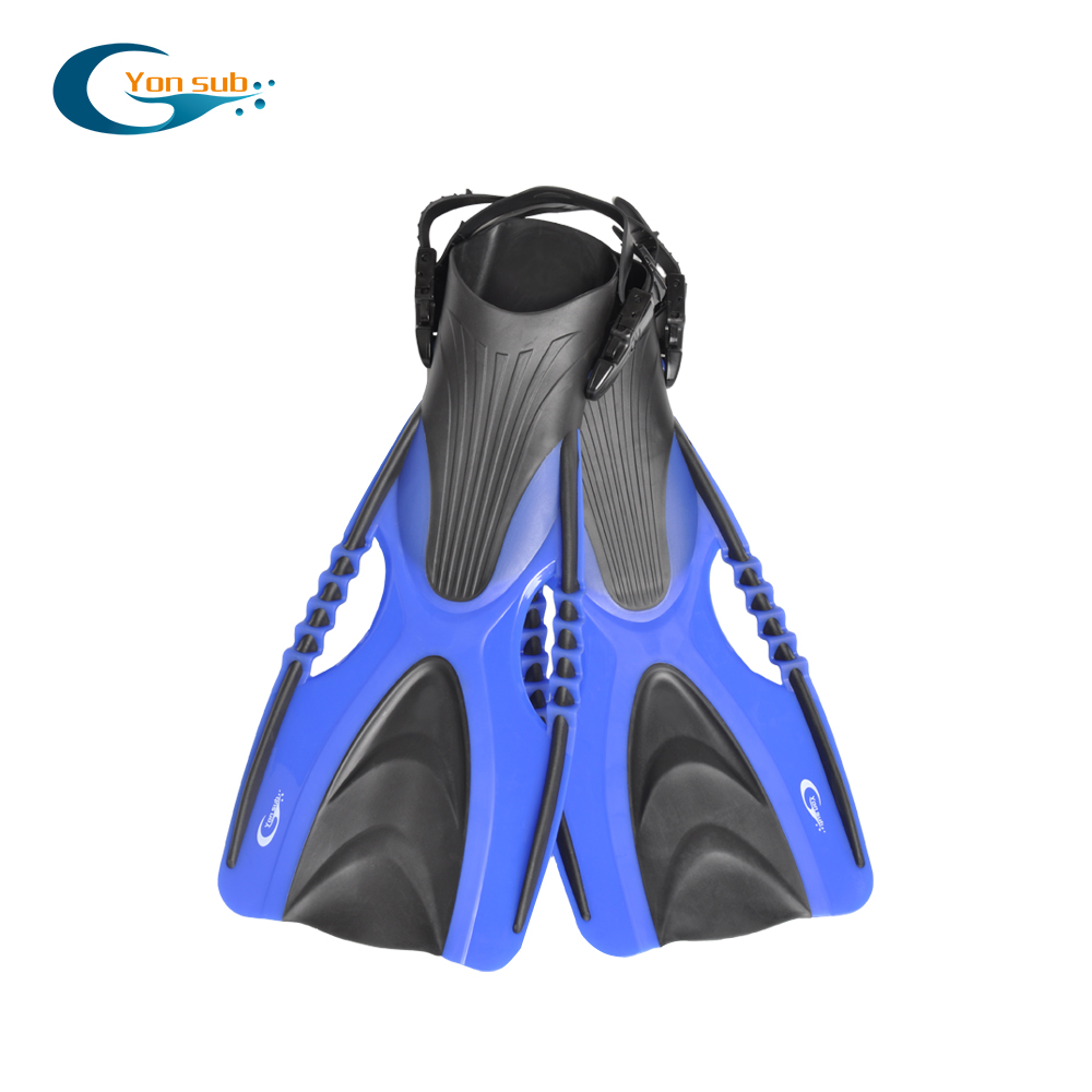 YON SUB Professional Scuba Diving Fins For Adult Adjustable Open Heel Long Blade Flippers Flexible Snorkeling Swimming Fins