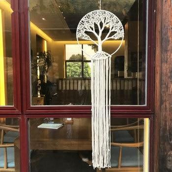Tapiz de macramé con diseño de árbol grande para colgar en la pared, decoración estilo bohemio, decoración de macramé, decoración gótica para el hogar
